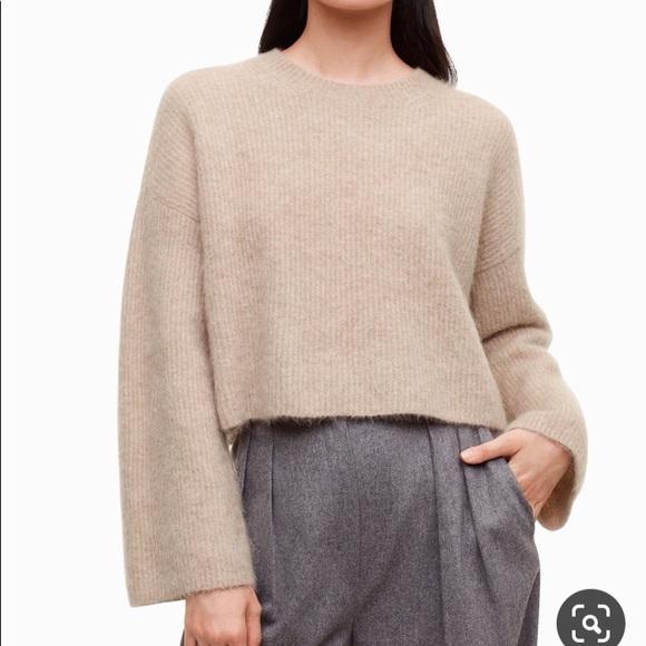 Aritzia Babaton delton crop sweater medium
